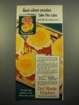 1951 Del Monte Peaches Ad - Take The Cake - $14.99