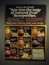 1978 Kraft Jellies, Jams and Preserves Ad - Bite Into - $14.99