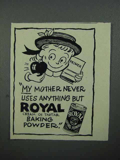 1952 Royal Baking Powder Ad - My Mother