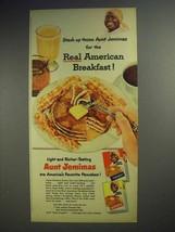 1952 Aunt Jemima Pancake Mix Ad - American Breakfast - $14.99