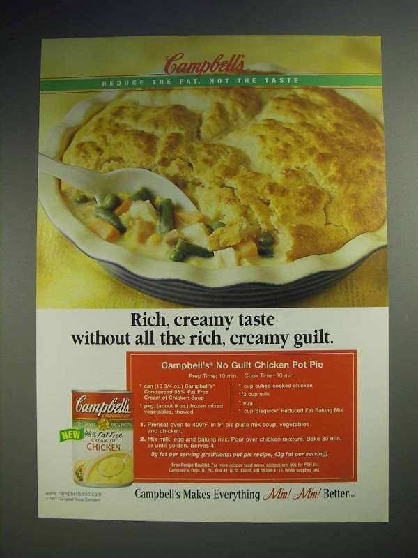 1998 Campbell's Cream of Chicken Soup Ad