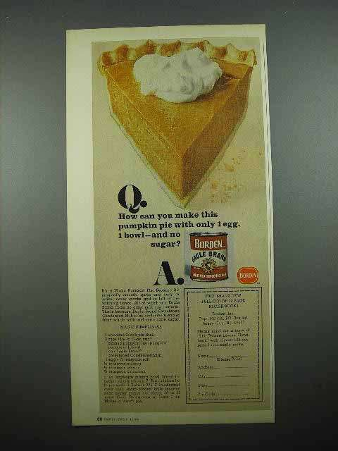 1969 Borden Eagle Brand Condensed Milk Ad - Pie