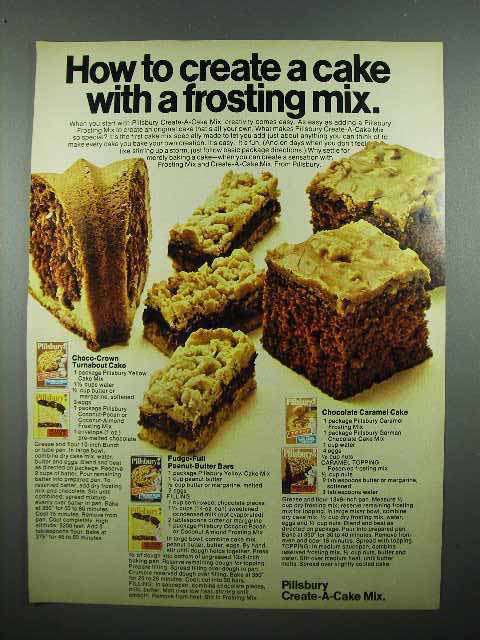 1972 Pillsbury Create-A-Cake Mix Ad - Frosting