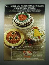 1979 Sara Lee Cake Ad - Holiday Decorations - $14.99