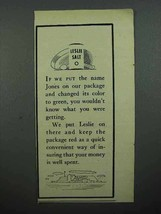 1948 Leslie Salt Ad - If We Changed You Wouldn't Know - $14.99