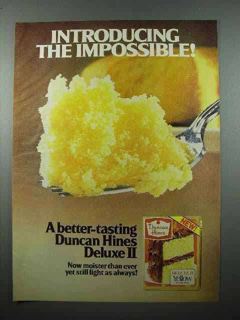 1979 Duncan Hines Deluxe II Cake Mix Ad - Impossible