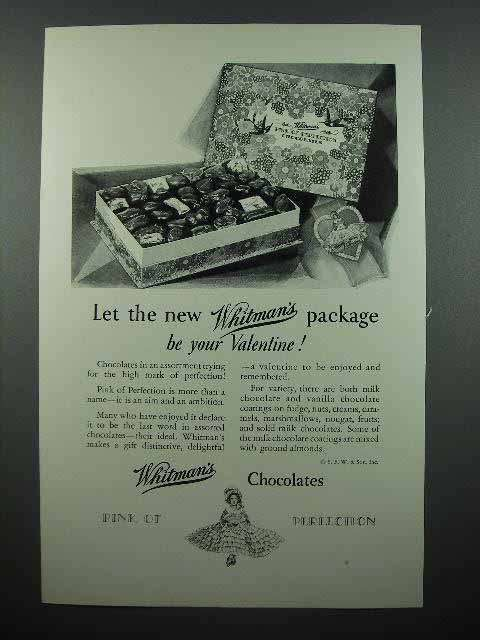 1928 Whitman's Chocolate Ad - Be Your Valentine