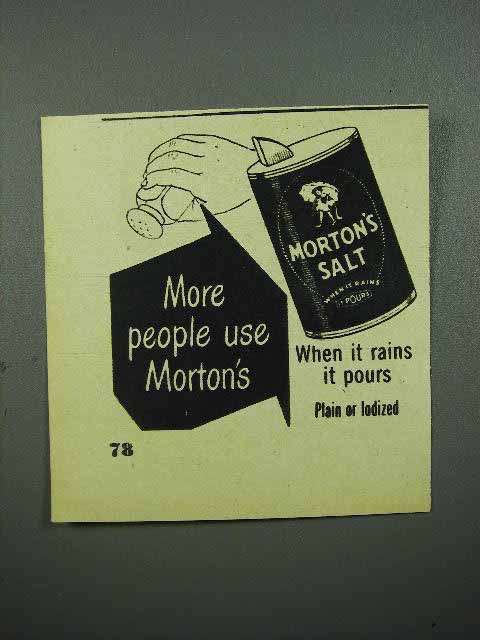 1948 Morton's Salt Ad - More People Use