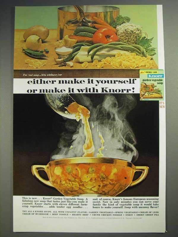 1965 Knorr Garden Vegetable Soup Ad - Make it Yourself