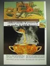 1965 Knorr Garden Vegetable Soup Ad - Make it Yourself - $14.99