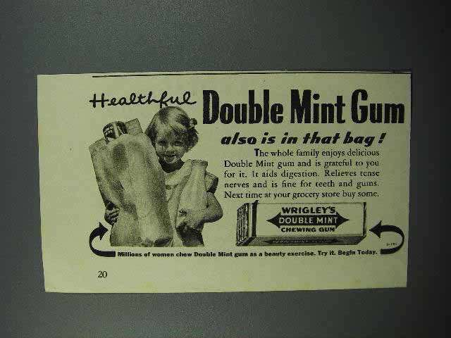 1938 Wrigley's Doublemint Gum Ad - Healthful