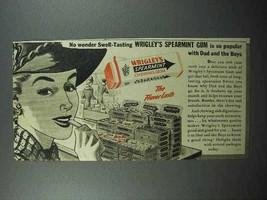 1941 Wrigley's Spearmint Gum Ad - So Popular - $14.99