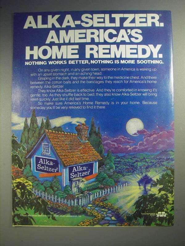 1981 Alka-Seltzer Ad - America's Home Remedy