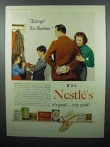 1955 Nestle's Products Ad - Hurray! - Chocolate, Milk - $14.99