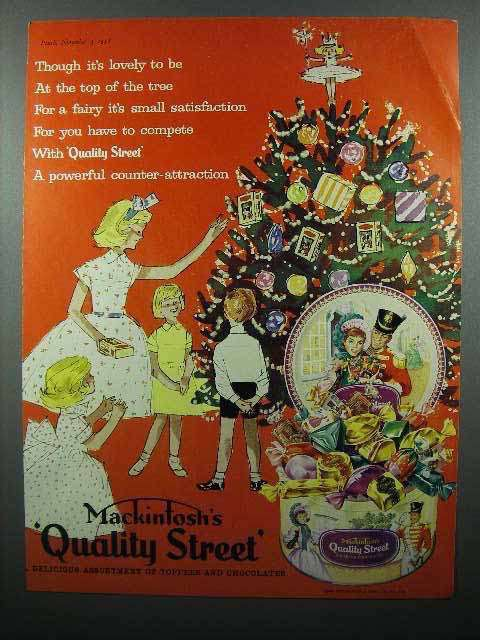 1958 Mackintosh's Quality Street Toffee Candy Ad