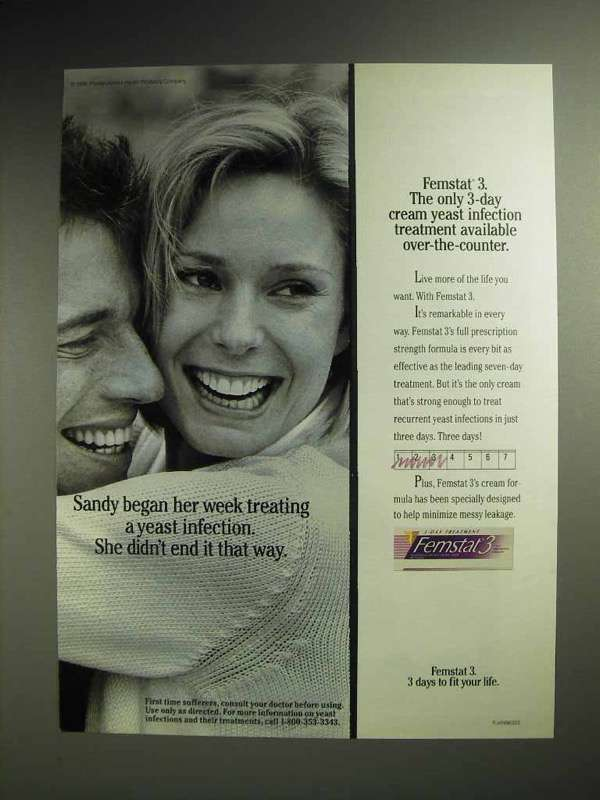 1997 Femstat 3 Cream Ad - Treating a Yeast Infection