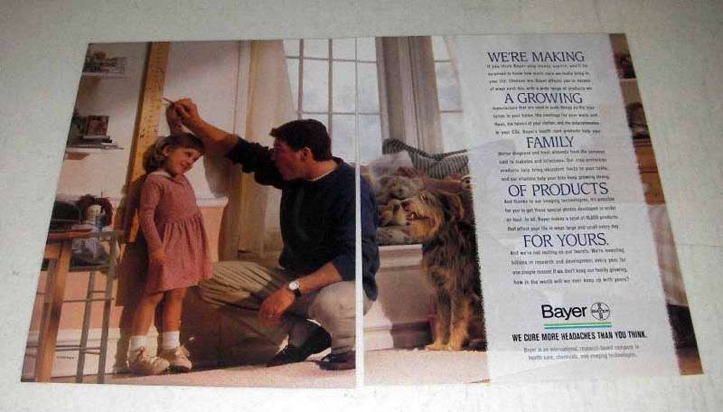 1995 Bayer Pharmaceutical Ad - Growing Family