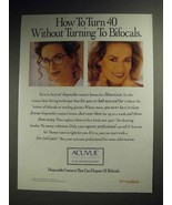1995 Acuvue Contact Lenses Ad - How to Turn 40 - $14.99