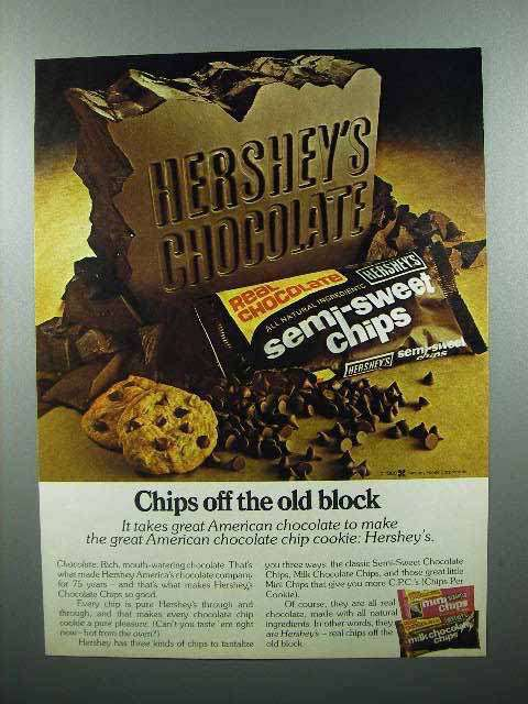 1980 Hershey's Semi-Sweet Chips Chocolate Ad