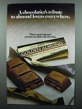 1983 Hershey's Golden Almond Chocolate Ad - $14.99