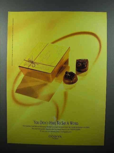 1995 Godiva Chocolate Ad - You Don't Have to Say a Word