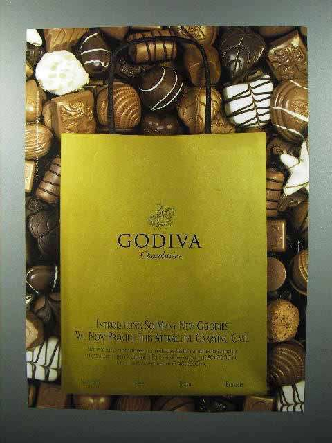 1997 Godiva Chocolate Ad - Attractive Carrying Case