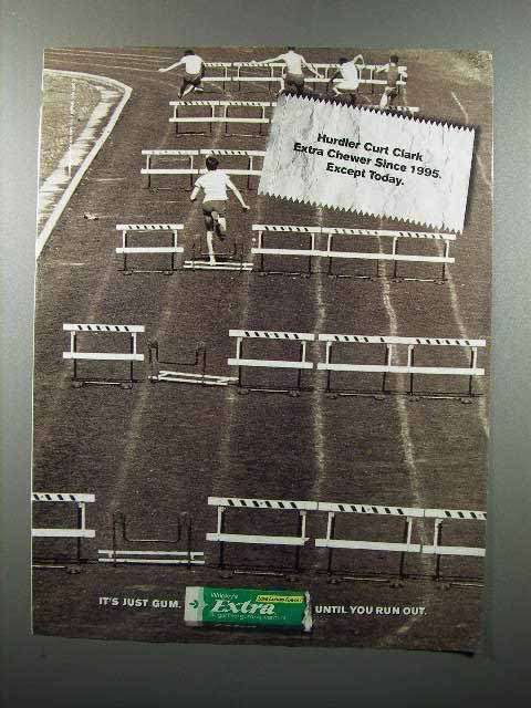 2001 Wrigley's Extra Gum Ad - Hurdler Curt Clark Extra Chewer