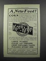 1902 Korn-Krisp Cereal Ad - A New Food! - $14.99