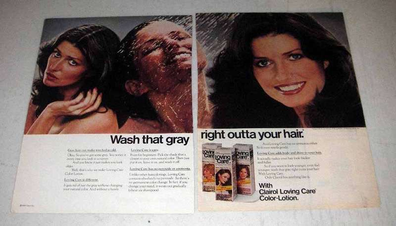 1980 Clairol Loving Care Hair Color Lotion Ad