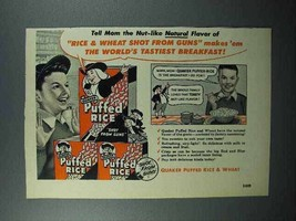 1952 Quaker Puffed Rice Cereal Ad - World's Tastiest - $14.99