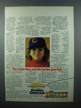 1972 Quaker Oatmeal Ad - The Better You Feel - $14.99