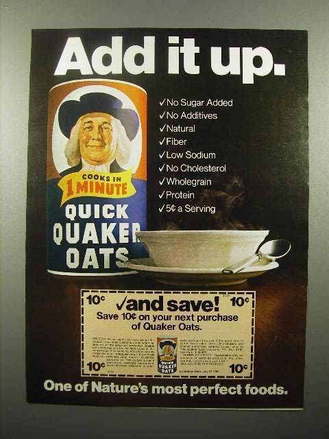 1980 Quaker Oats Ad - Add it Up