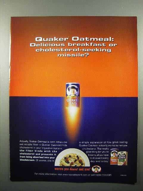 2000 Quaker Oats Ad - Cholesterol-Seeking Missile