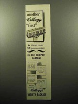 1941 Kellogg's Cereal Variety Package Ad - Another 1st - $14.99