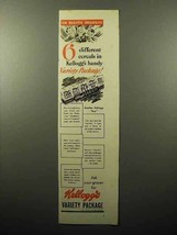 1941 Kellogg's Cereal Variety Package Ad - 6 Different Cereals - $14.99