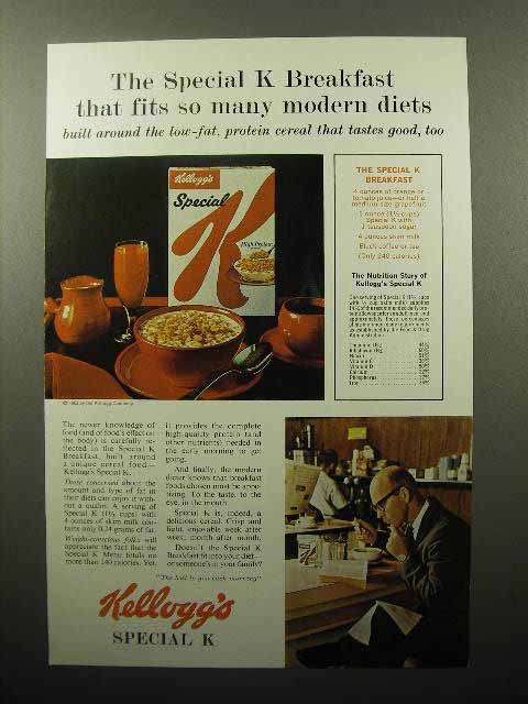 1963 Kellogg's Special K Cereal Ad - Fits Modern Diets
