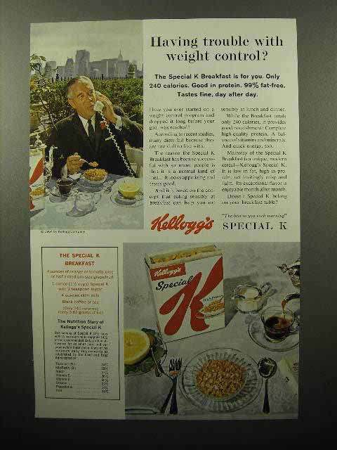 1964 Kellogg's Special K Cereal Ad - Having Trouble?