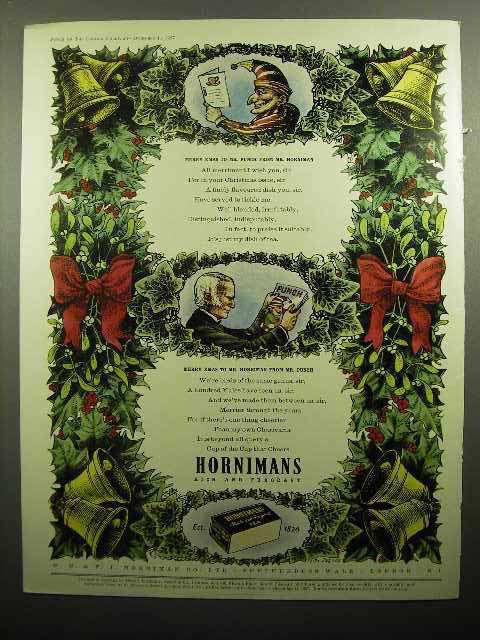 1957 Hornimans Tea Ad - Punch Character