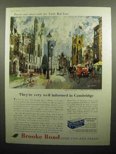 1959 Brooke Bond Tea Ad - Well Informed in Cambridge