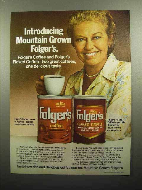 1978 Folger's Mountain Grown Coffee Ad