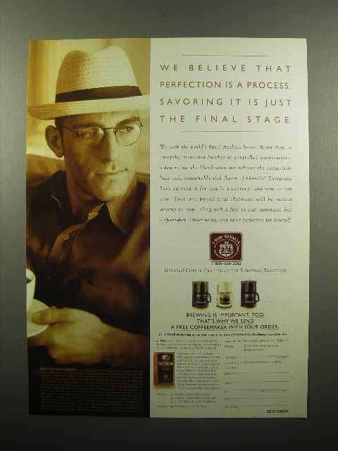 1997 Gevalia Coffee Ad - Perfection is a Process