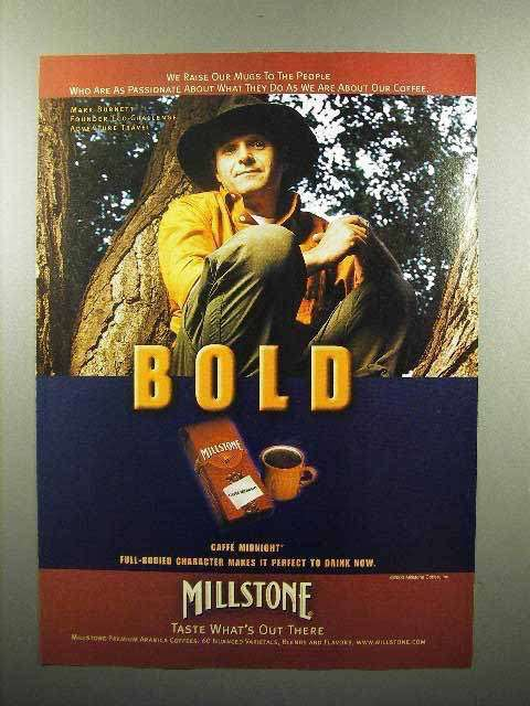 2000 Millstone Coffee Ad - We Raise Our Mugs to People