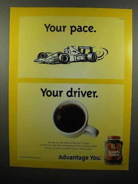 2003 Taster's Choice Coffee Ad - Your Pace Your Driver