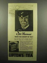 1937 Lipton's Tea Ad - Sir Thomas Knew the Secret - $14.99