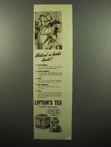 1938 Lipton's Tea Ad - Behind a Bride's Back - $14.99