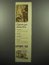 1938 Lipton's Tea Ad - Confession from Husband-to-Be - $14.99