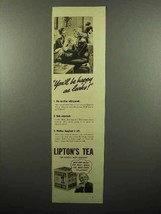 1938 Lipton's Tea Ad - You'll Be Happy as Larks - $14.99