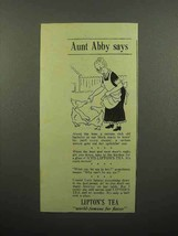 1940 Lipton's Tea Ad - Aunt Abby Says - Feeding Chickens - $14.99