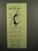 1940 Lipton's Tea Ad - Aunt Abby Says - Baking Cake - $14.99