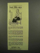1941 Lipton's Tea Ad - Aunt Abby Says - Soaking Feet - $14.99